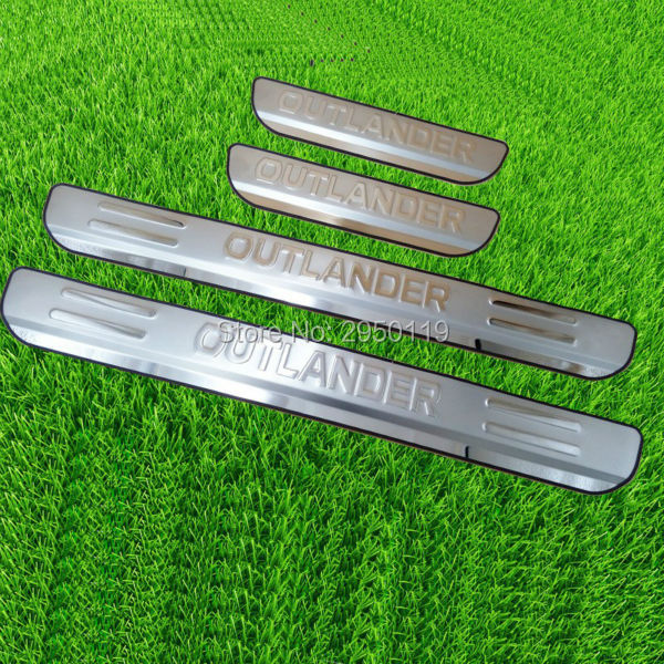 For Mitsubishi Outlander 2013 2014 2015 2016 Door Sill Scuff Plate Stainless Steel Welcome Pedal Car-Styling Accessories