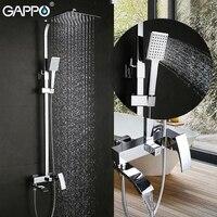 GAPPO système de douche pluie chromé | Ensemble de douche  robinet de baignoire robinet mitigeur cascade douche murale pomme de douche salle de bains grande tête