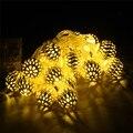 1/2/3 m de Oro Marroquí Orbe LLEVÓ Cadena De Luces Con Pilas con 10/20/30 Leds, decoración de la boda luces de navidad luz de la secuencia