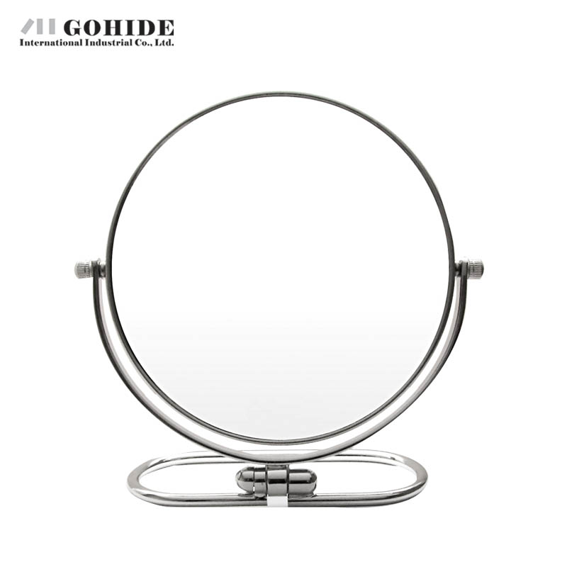 JUH Mica Makeup Round Desktop Mirror Double Faced Beauty Mirror Home Use 6inch Rustproof Alloy Hanging In The Bathroom