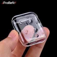 ProBefit защитный чехол для Apple Watch 5 4 3 2 1 40 мм 44 мм 360 прозрачный ТПУ чехол Полный Чехол для Iwatch 5 4 3 2 1 38 мм 42 мм