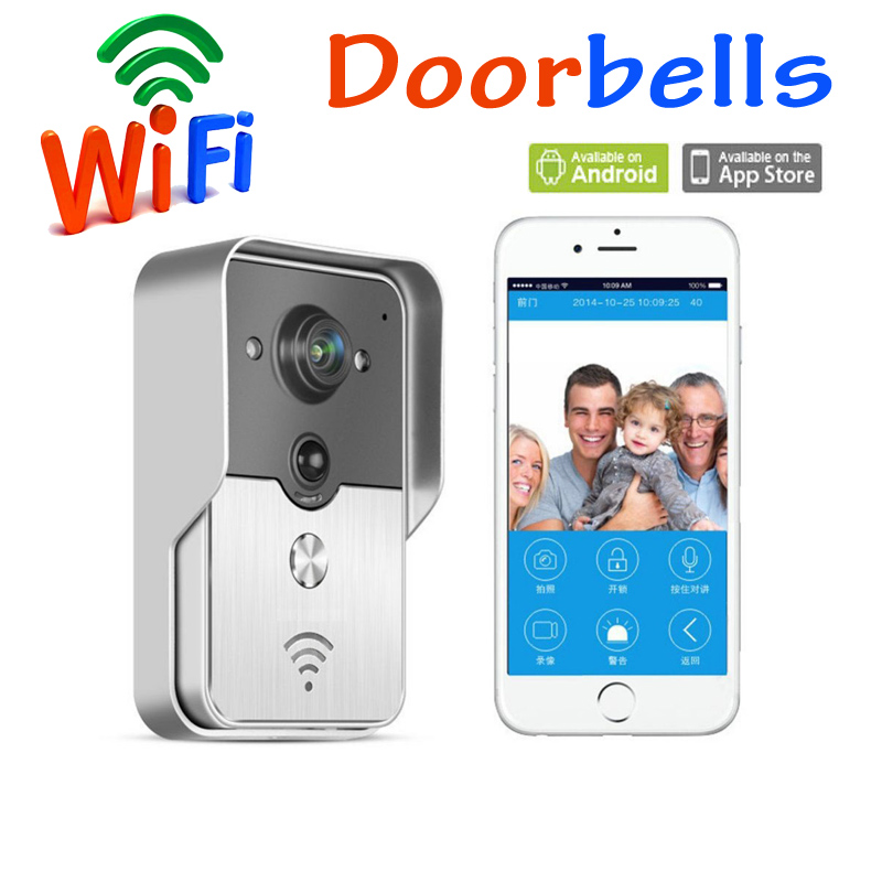 New Wifi video door phone doorbell Wireless Intercom Support IOS Android for iPad Smart Phone Tablet Free shipping brand new wifi wireless video door phone door bell intercom systems app can be run in android and ios devices free shipping