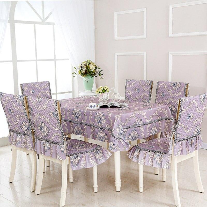 Европейский стиль, 5 цветов, настольный цветок из текстиля, Rrinted 9 шт./компл., скатерти, уличные скатерти, вечерние, свадебные скатерти - 2