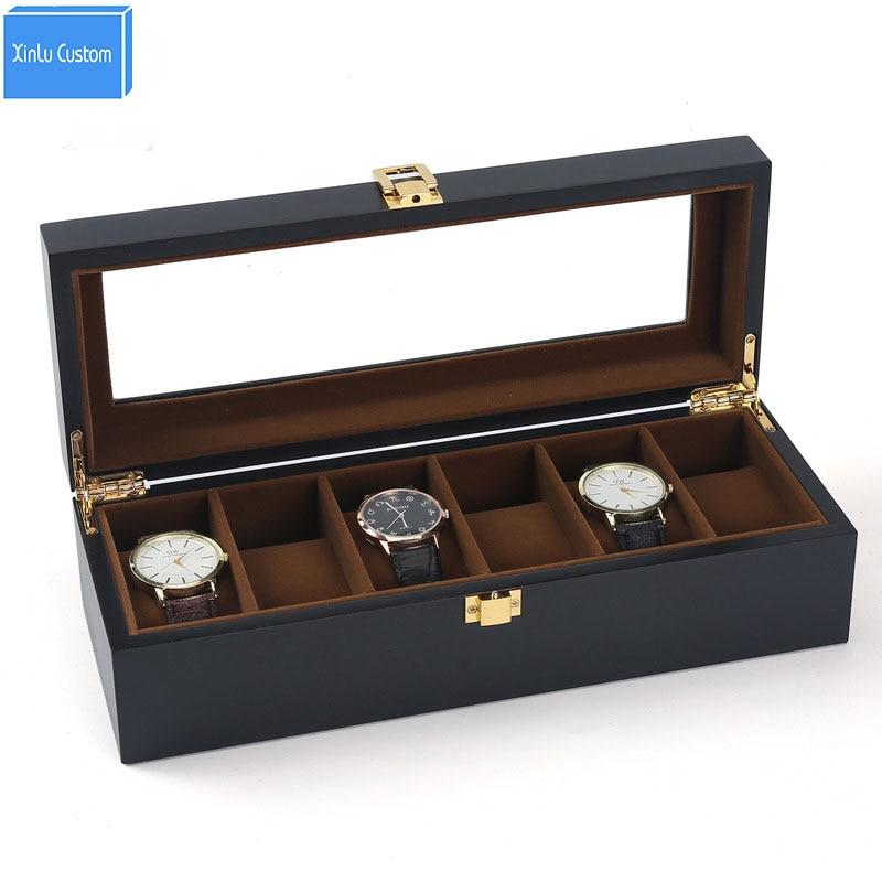 Verwonderend Kopen Goedkoop Zwarte Verf 6 Slots Horloge Dozen Sieraden Horloge IC-21