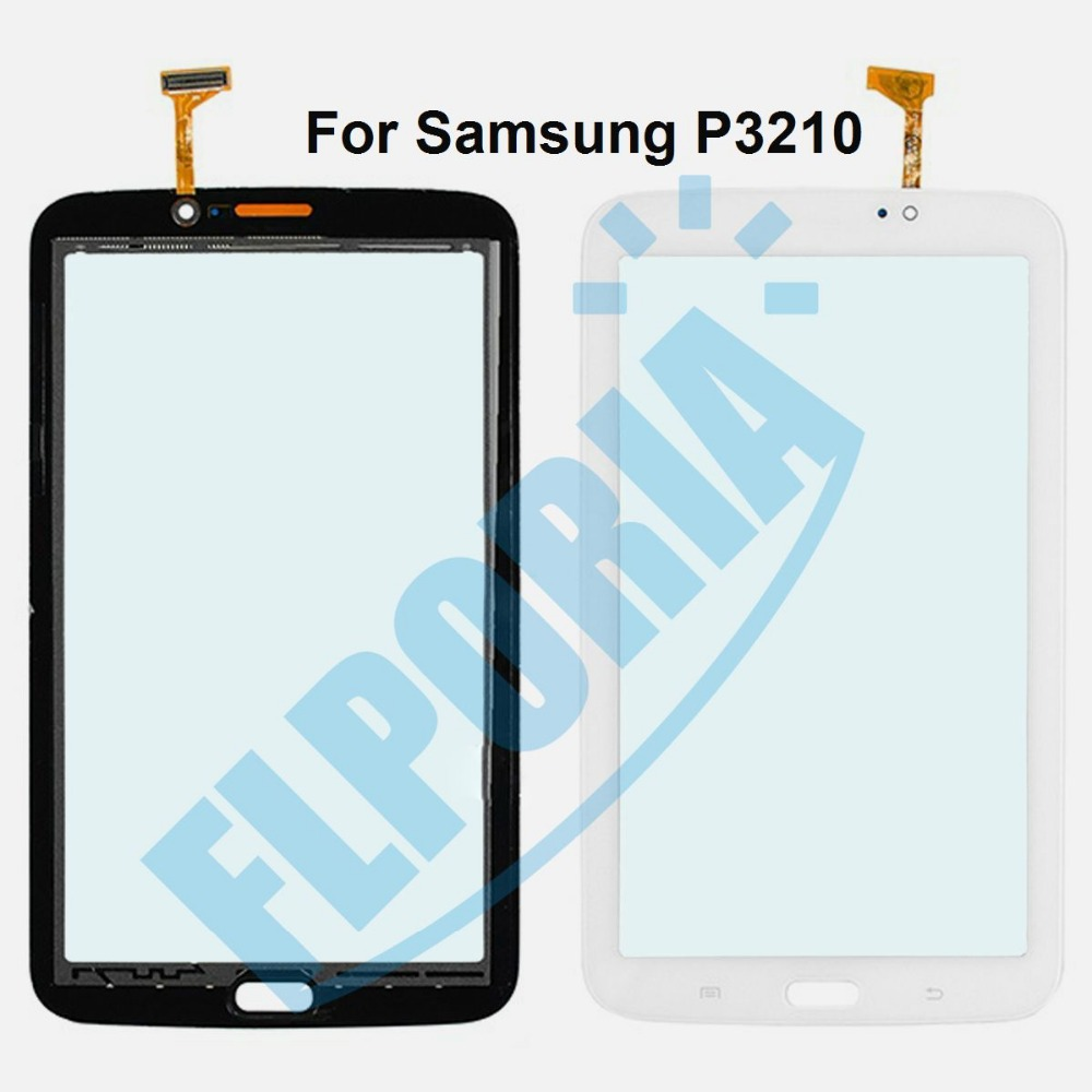 Tablet Touch Panel For Samsung Galaxy Tab 3 7.0 P3200 P3210 Outer Glass Touch Screen Digitizer with Flex Cable Assembly 10 1 inch for samsung galaxy tab 2 ii gt p5100 p5110 n8000 n8010 n8013 tablet touch screen digitizer glass panel