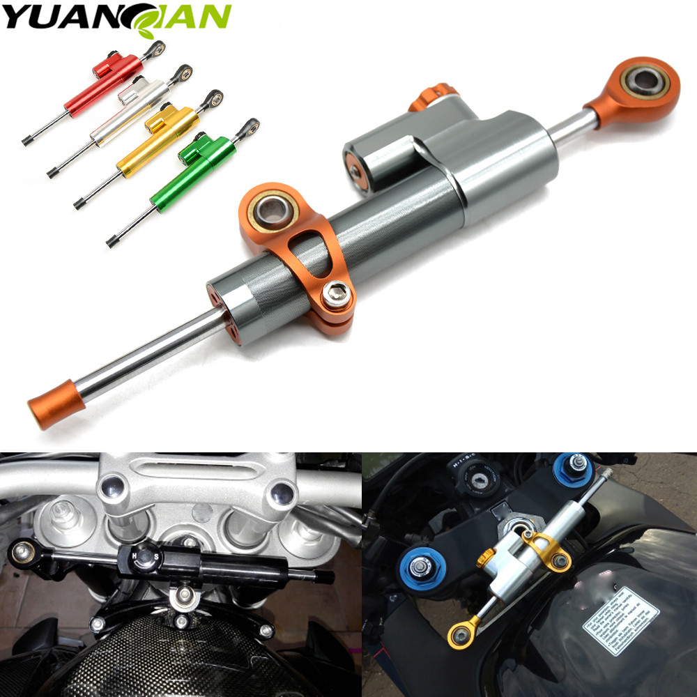 For Yamaha MT07 MT09 YZF R3 R6 R1 R125 R25 xj6 Motorcycle Accessories Damper Stabilizer Damper Steering Reversed Safety Control universal motorcycle damper steering stabilizer moto linear safety control for suzuki gsx1250fa sv650sf gsx650f katana 600 750
