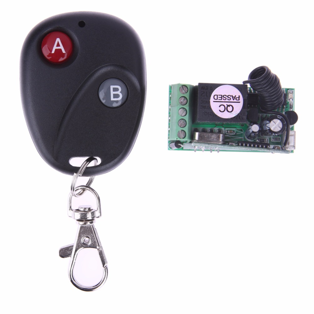 Replacement Wireless 433MHz DC 12V Remote Control Switch with 2 Button Remote Control Controller Receiver DIY Replace Parts Tool wireless pager system 433 92mhz wireless restaurant table buzzer with monitor and watch receiver 3 display 42 call button