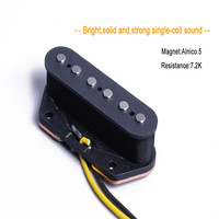 High Output Guitar Accessories Single Coil Pickup For Electric Guitar Bass 6 Strings Bridge