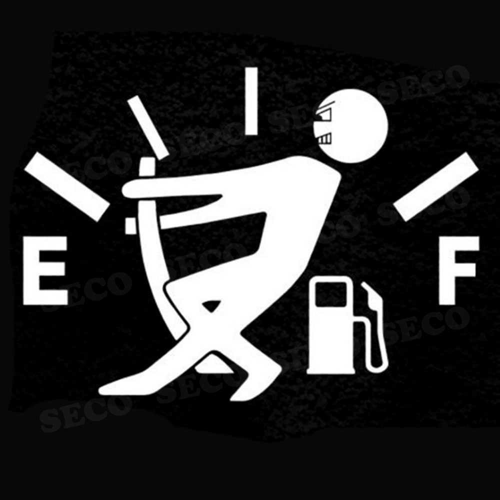 Adesivi Auto Divertente di Alta Consumo di Gas Decalcomania Carburante Gage Vuoto Adesivi in Vinile Accessori per Volkswagen Golf Passat per Bmw E46