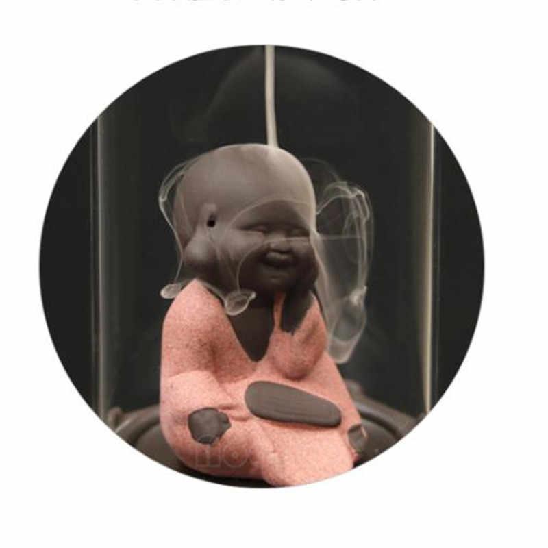 Criativo Macaco Rei Monge Cachoeira Refluxo Aromaterapia Incensário Queimador de Incenso Com Acrílico Artesanato Enfeites Para Casa Decoração Do Escritório