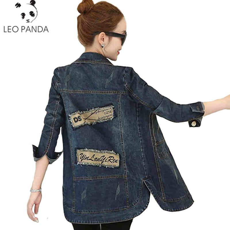 Femme Femmes Manteau Vers Nouveau Mode Manteaux Veste Printemps Jeans As Shown Le Longues Slim Manches Base allumette À Bas Lcy124 Tournent Denim De Tout nqxRZ7Iq
