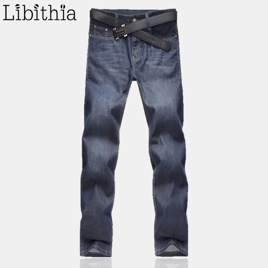 Men's Jeans Homme Denim Pants For Men Straight Casual Skinny Male Slim Fit Clothes Big Size 30-48 Masculino Washed Trousers E485