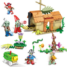 8pcs/set City Zombie Series Plants Vs Zombies Game Model Building Block Bricks Gift Kid Toy Compatible With Legoings Toys new playground series fits legoings creators city streetview set house figures model building kit bricks blocks diy gift kid toy