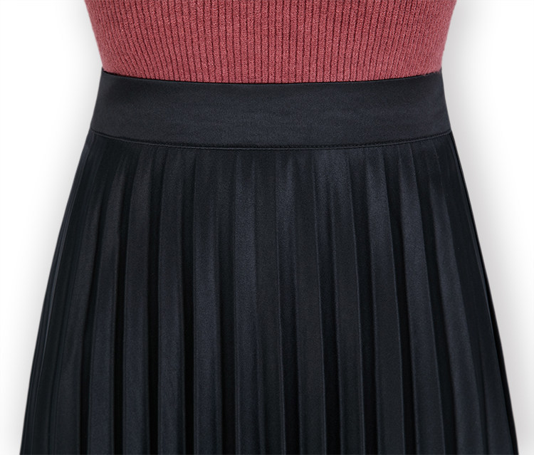 Falda Puro Negro Del Cintura Libre Stock De Color En gris Alta verde Veces rojo La Envío Faldas Manera Plisada nvxq1Y0