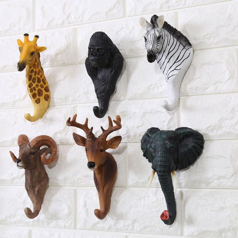 Creative Animal Series Wall Decor Hook Wall Door Hook Hanger Bag Keys Holder Multi-Purpose Decorative Hook Home Decoration