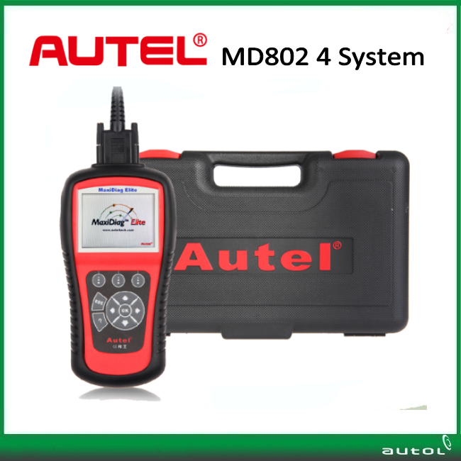 Цена за Оригинал Autel MD802 Maxidiag Elite MD802 Code Reader MD 802 4 Системы Autel Maxidiag Elite MD 802