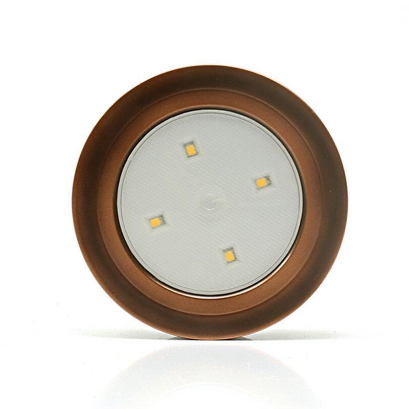 LED Motion Sensor Light Wall Cabinet Wardrobe Drawer Kitchen Lamp Night Bedroom Bookcase Light (Bronze Color & White Light)