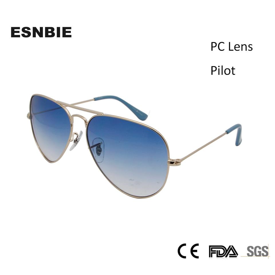 ESNBIE klasične pilote sunčane naočale 3025 dizajn 58mm muške gradijent objektiva oculos muške nehrđajućeg čelika sunčane naočale muškarci žene Vintage