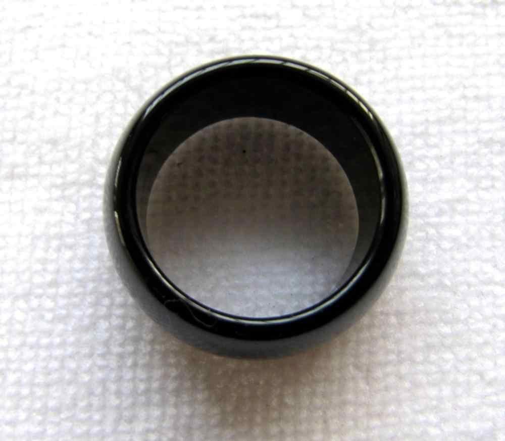 จีนธรรมชาติสีดำหยกมือแกะสลักแหวนวงขนาด9.5-11 #การจัดส่งสินค้าได้อย่างรวดเร็ว