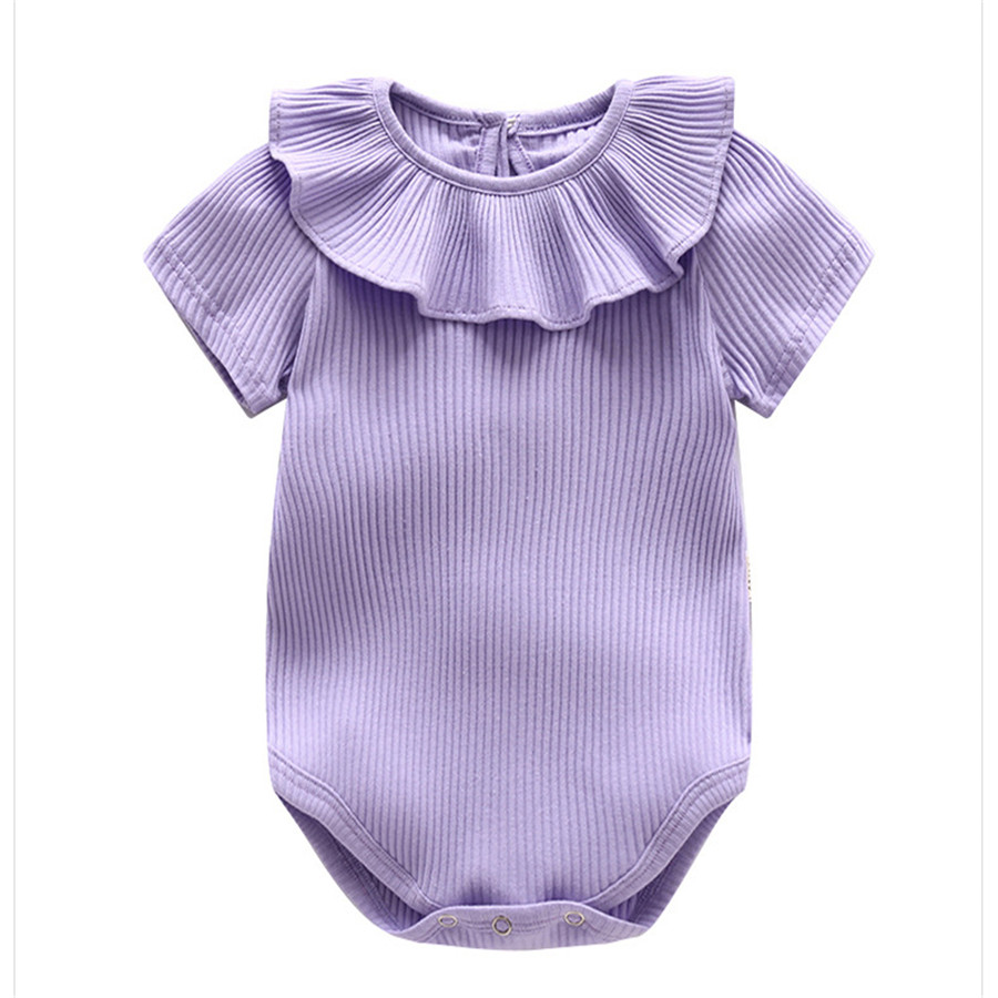 Joyo roy Nieuw artikel Kuil driehoek Rompertjes Baby meisjes Effen - Babykleding - Foto 6