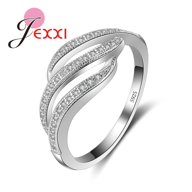jexxi 2016 new arrival 925 sterling silver rings for