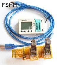 Offline programmers CH2016  SPI FLASH programmer+SOT23-6 test socket(for 24c/24lcxxx eeprom)  Production 1 drag 2 programmer