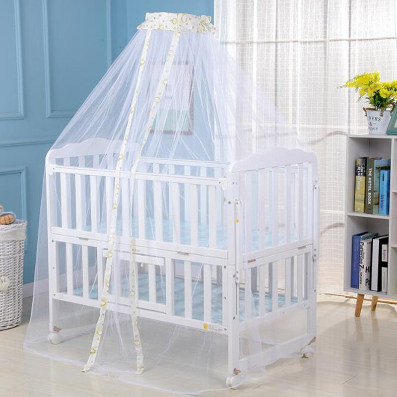 Useful Hot Baby Bed Mosquito Net Mesh Dome Curtain Net For Toddler Crib Cot Canopy Dropshipping Foldable Baby Bed Net