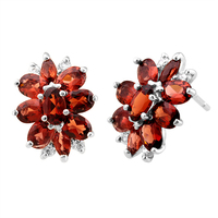 atural Garnet Earring Stud 925 Sterling silver Woman Fine Elegant Red Gem Jewelry Girl Birthstone Christmas Gift se0003g