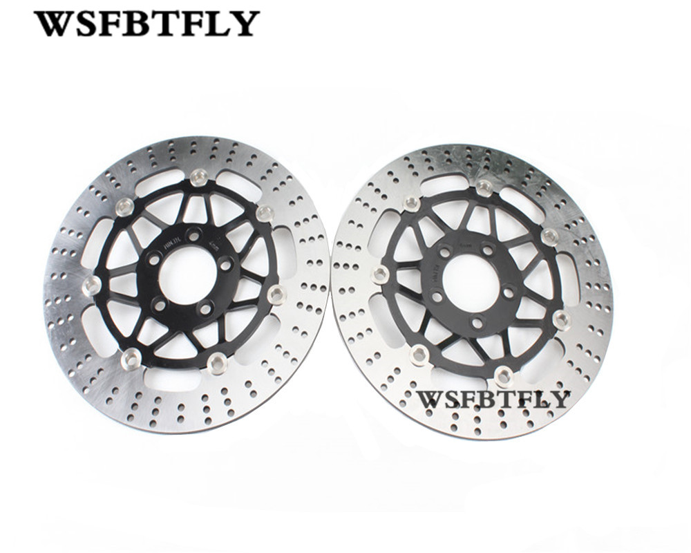 Motorcycle Front Brake Disc Rotor Brake Rotor For Kawasaki ZX-6R ZX6R ZR 750 C1-C5 Zephyr 92-95 ZR 750 D1 Zephyr Left 96-98 new motorcycle front rotor brake disc for kawasaki zr 7 zr 7s zr750 zzr600 z750s gtr1000 zg1000 z1000 zr1000 gpz1100 non abs