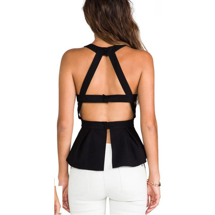 8f3f8cbd6de4c8 Womens Tops Fasion 2016 Hot Sale Sexy Backless Slim Black Summer Tops Off  the Shoulder Tops for Women DYFZ X 069-in T-Shirts from Women's Clothing on  ...