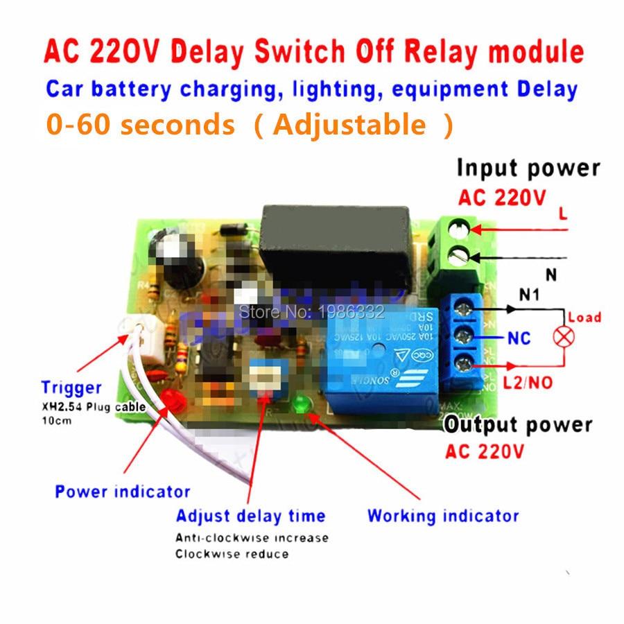 Ac110v 220v 230v Digital Led Cycle Delay Timer Relay Switch Turn On Off Module
