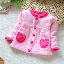 Весна осень дети одежда свитер gilrs кардиган младенцы вязание свитер пальто dr0006-111