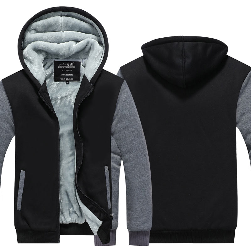 Dropshipping Großhandel niedrigen preis Reißverschluss Sweatshirts Hoodies Jacken Männer und Frauen EU UNS größen Winter Verdicken Kapuzenmantel