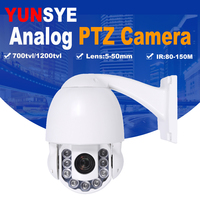 Free Shipping 100X ZOOM 1/3 Sony CCD 700TVL High Speed Dome PTZ 4 Security Camera CCTV Picture speed dome camera PTZ camera