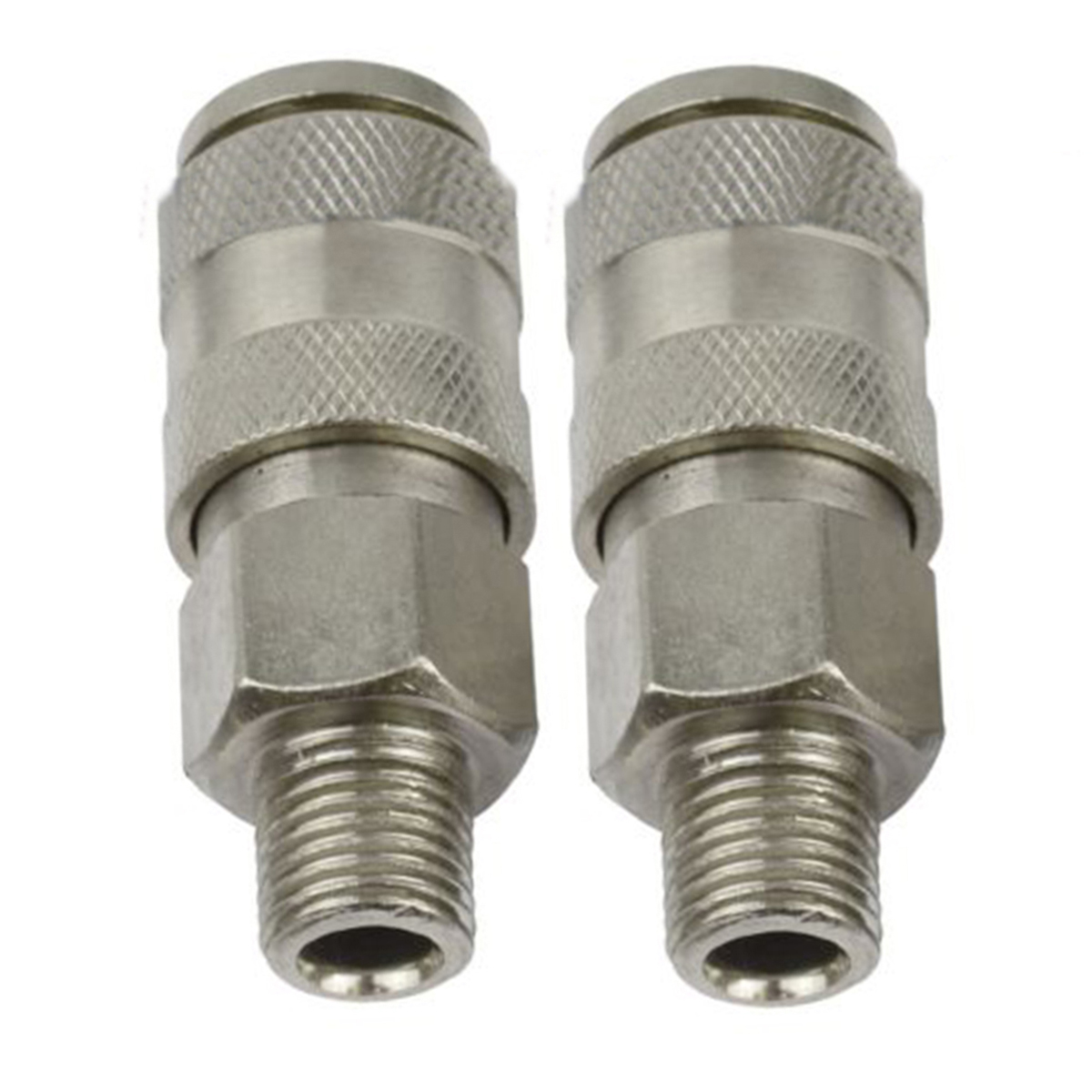 2pcs Pneumatic Parts Air Line Hose Connector Euro Fitting Female Quick Release Set with 1/4 BSP Male Thread 5pcs hvff 08 pneumatic valve control hvff 8mm tube pipe hose quick connector hand valves plastic pneumatic hose air fitting