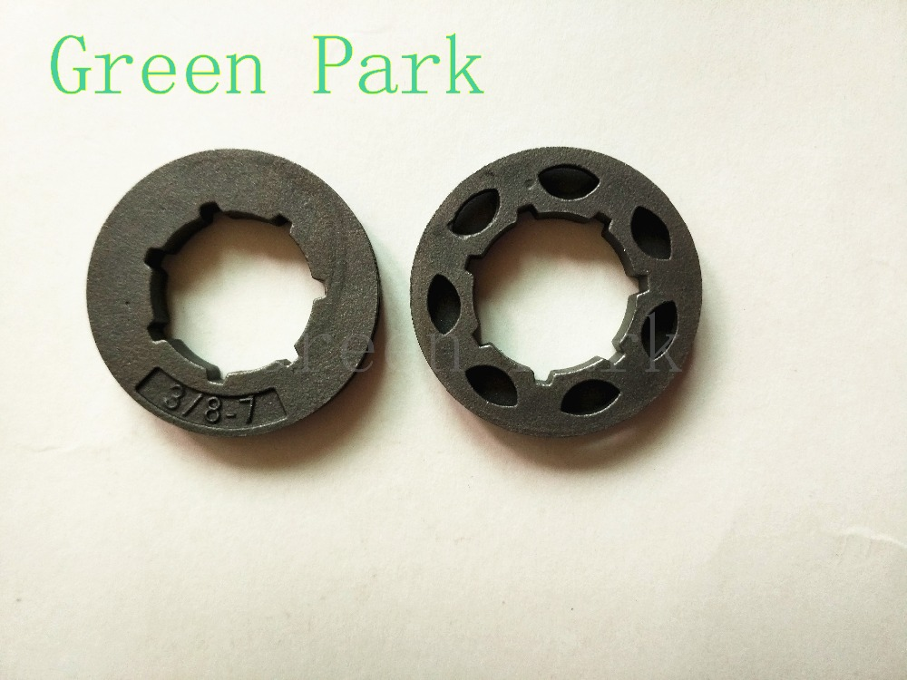 2pcs Chain saw sprocket rim and power mate 3/8 7T for most Chinese chainsaw replacement 45cc/52cc/4500/5200/5800 Komatsu 45cc 52cc 58cc chainsaw clutch replacement for poulan 4500 5200 5800 chain saw parts accessory
