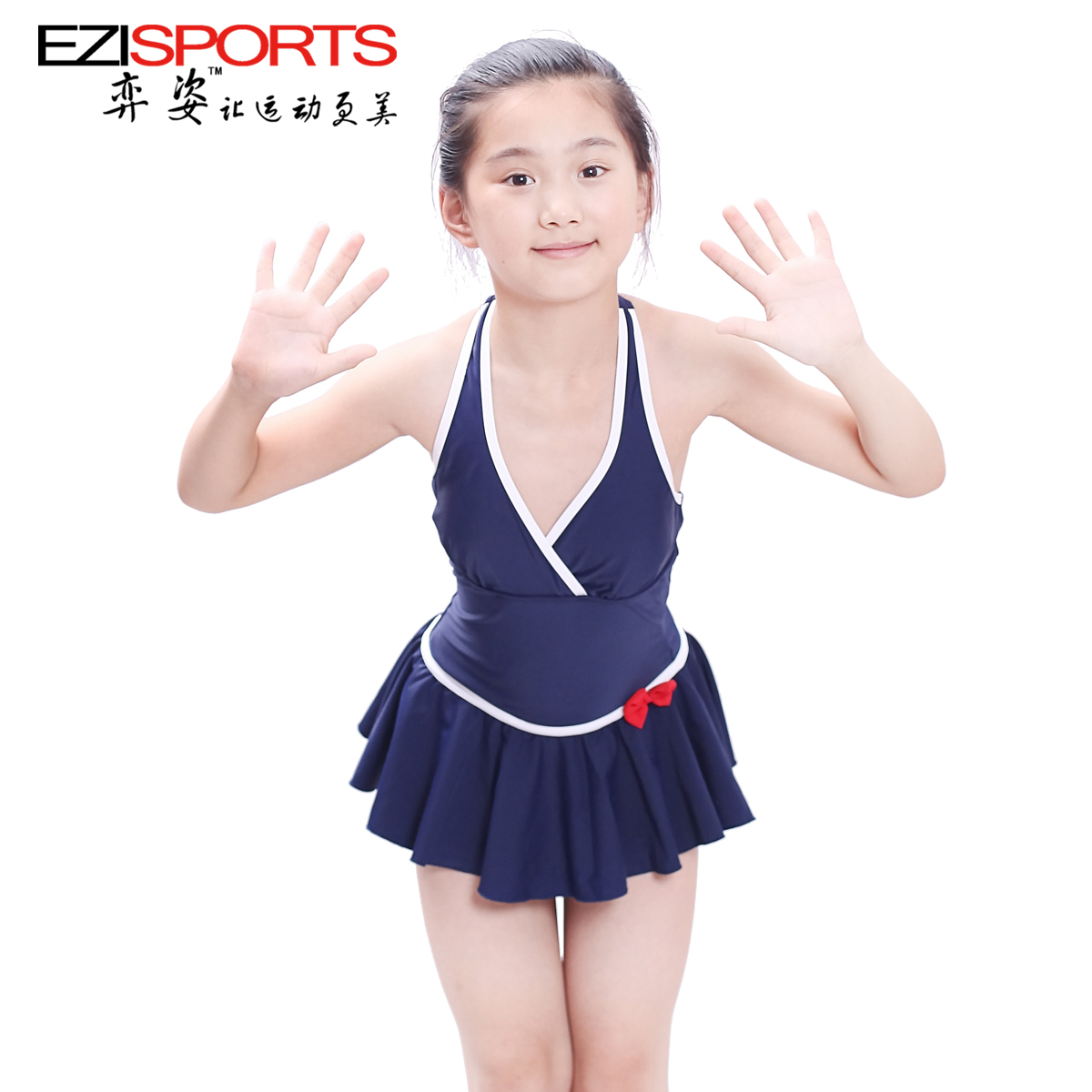 female swimwear 2014 navy style juniors dress one piece