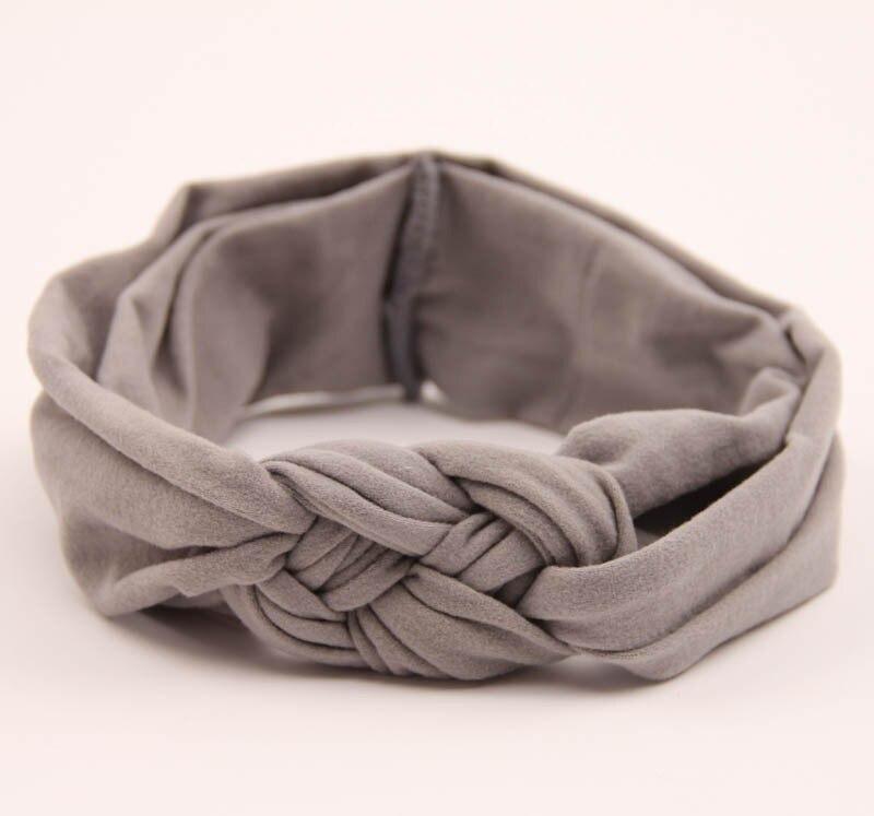 Потрясающие модные повязка хлопка узел повязка на голову обернуть голову кос Тюрбан повязка аксессуары для волос 9 видов цветов