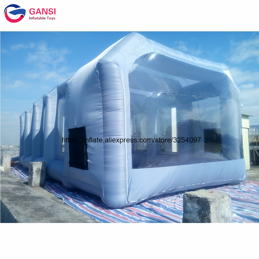 10*5*3.5m Inflatable spray paint booth for sale,Guangzhou factory price mobile work station inflatable car painting tent shanghai guangzhou 12 300mm