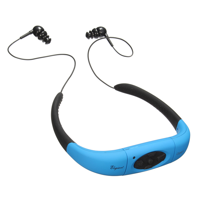 1883005adad77e LEORY IPX8 Waterproof MP3 Player Headset Swimming Surfing SPA Diving Sports  MP3 Player Built in 4GB Memory-in Earphones & Headphones from Consumer ...