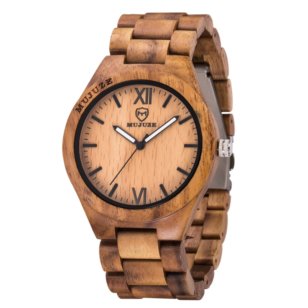 Top Brand Nature Wood Bamboo Watch Men Handmade Full Wooden Creative Women Watches 2018 New Fashion Quartz Clock Christmas Gifts цены