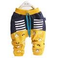 2016 весной новый мультфильм шаблон младенца хлопка брюки 0-2 года ребенок мальчик штаны девушки брюки