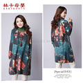 New 2016 Boat Neck Maternity Dress With Pocket Loose Casual Long Sleeve Printing Maternity Dresses Clothes Plus Size