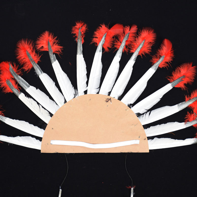 alloween Carnival Day Indian Villus Chief Headdress Colorful Feather Party Hats Headband Caps Supplies Costume Carnival Party (2)