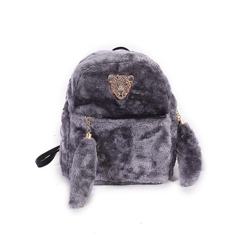 Меховые рюкзаки для детей рюкзак monki
