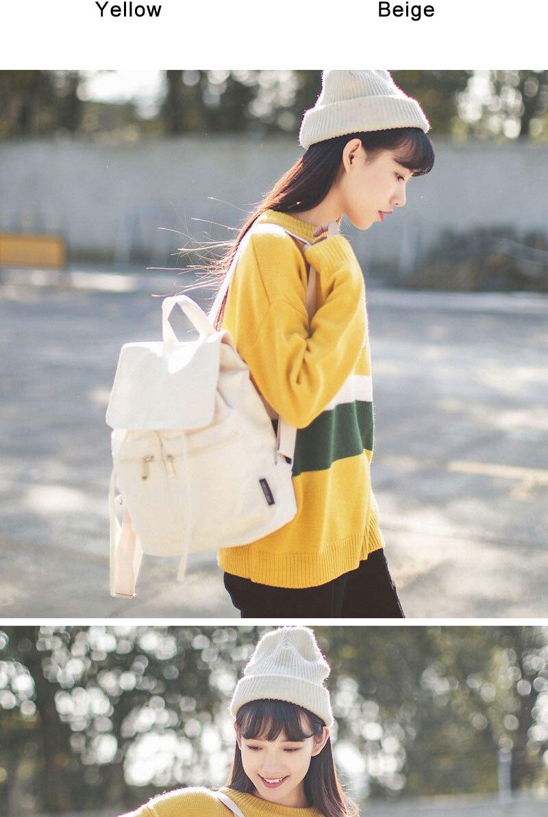 496cd280edf1 DCIMOR Casual Canvas Shoulder Bag Women Backpack Mochila Escolar School  Bags For Teenagers Girls Top-handle Backpacks Book bag