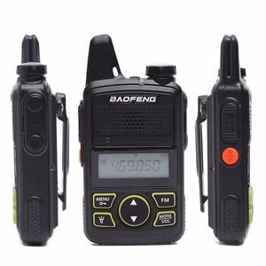 Image 2 - 2pcs Baofeng BF T1 Portable Earphone Ptt MINI Walkie Talkie Handheld bft1 Hotel Civilian Radio Comunicador Ham HF Transceiver