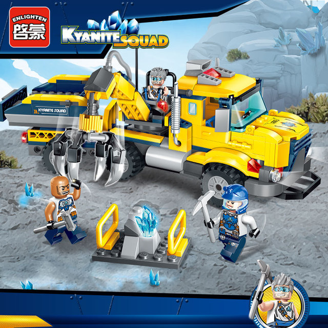 Enlighten City Educational Building Blocks Toys For Children Gifts Kyanite Squad Collecting Truck Stickers Compatible With Legoe