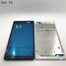 Original Middle Front Frame Bezel Housing LCD Screen Holder Repair Parts For Sony Xperia T3 D5102 D5103 D5106 M50W