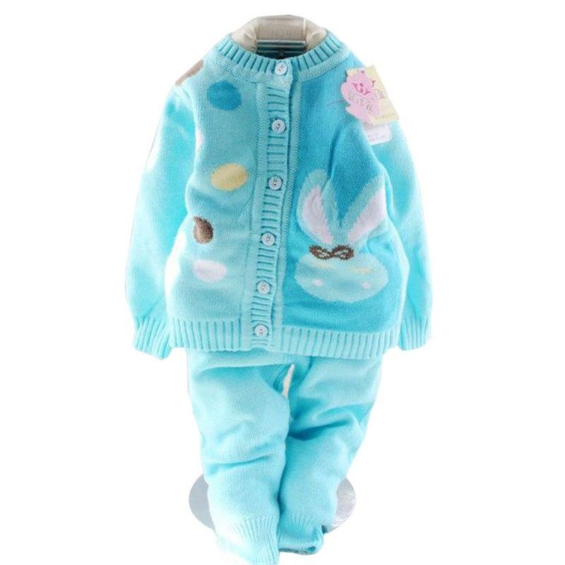 Retail 2017 spring autumn winter children clothing set new style baby boy girl set 2 pieces knit Mla winter style fashion set